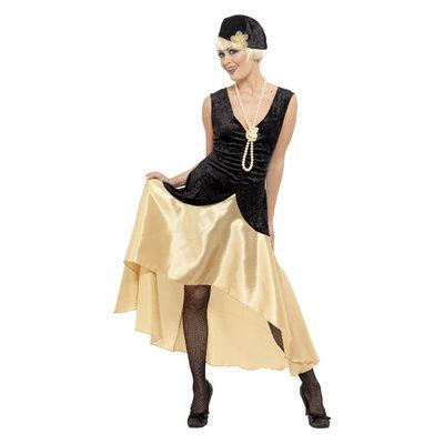 20s Gatsby dames Kostuum - Zwart