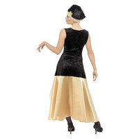 Smiffys 20s Gatsby Meisje Kostuum - Zwart