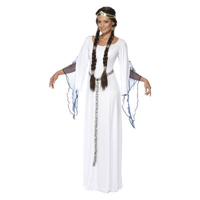Middeleeuwse Dame Kostuum - Wit