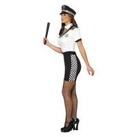 Smiffys Agente Kostuum - Zwart-wit