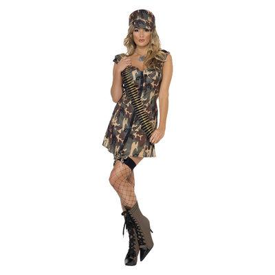 Leger Meisje Kostuum - Camouflage