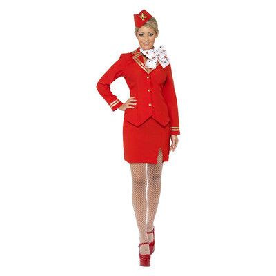 Stewardes Kostuum - Rood