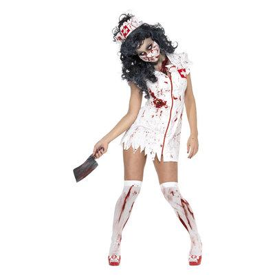 Zombie Verpleegster Kostuum - Wit