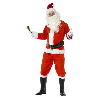 Deluxe Kerstman Kostuum - Rood