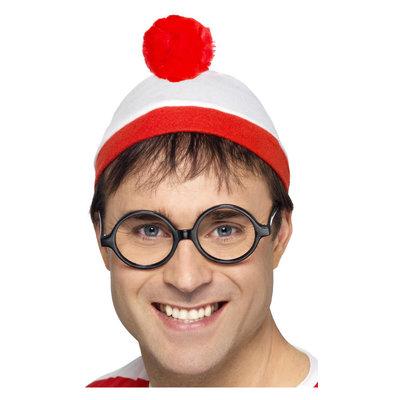 Waar Is Wally? verkleedset - Rood-wit
