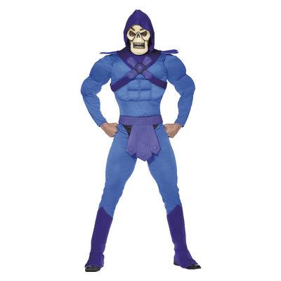Skeletor Spier Kostuum - Blauw