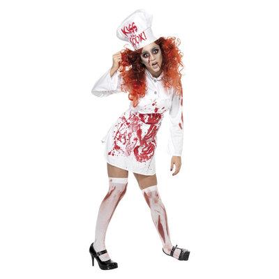 Hell's Kitchen Bloedige Chef Kostuum - Wit