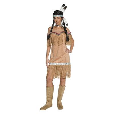 Indiaan Dames Kostuum - Beige