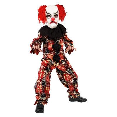 Enge Clown Kostuum - Rood