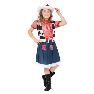 Cowboymeisje  Kostuum - Blauw