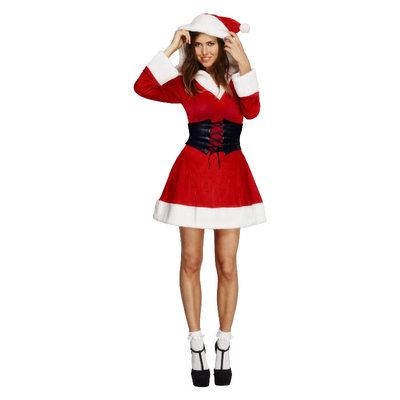 Fever Kerstvrouw  Kostuum - Rood
