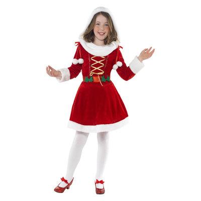 Kerstmeisje Kostuum - Rood