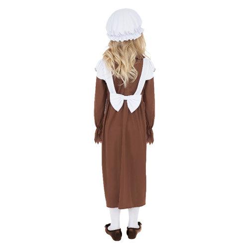 Smiffys Arme Victoriaanse Kostuum - Bruine En Witte
