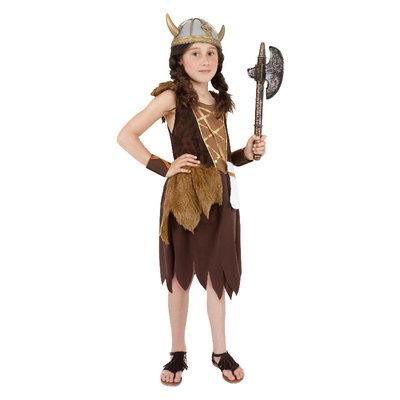 Viking meisje Kostuum - Bruin