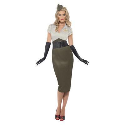 Ww2  Pin Up Army girl Kostuum - Groen