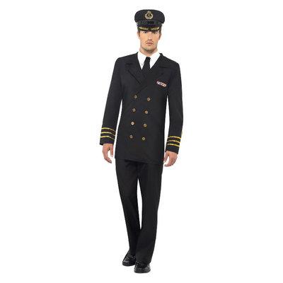 Marine Officier Kostuum - Zwart