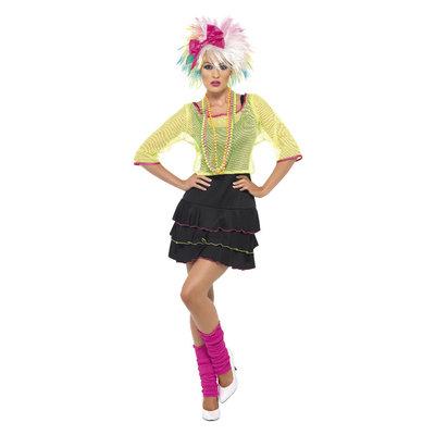80s Pop Tart Kostuum - Zwart En Geel