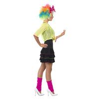 Smiffys 80s Pop Tart Kostuum - Zwart En Geel