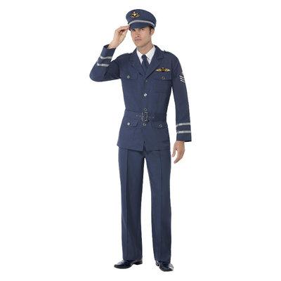 Ww2 Luchtmacht Kapitein Kostuum - Blauw