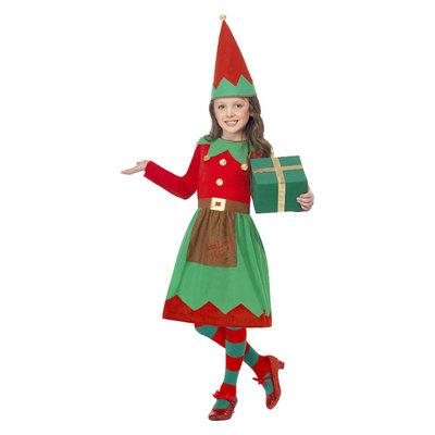 Elfje Kostuum - Rood En Groen