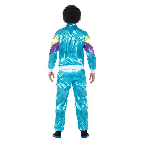 Smiffys 80s  trainingspak - Blauw