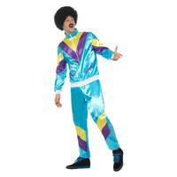 Smiffys 80s Hoogte Van De Mode Shell Pak Kostuum - Blauw