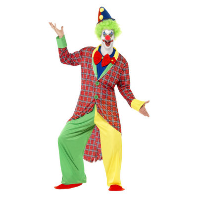 Deluxe Circus Clown Kostuum - Veelkleurig