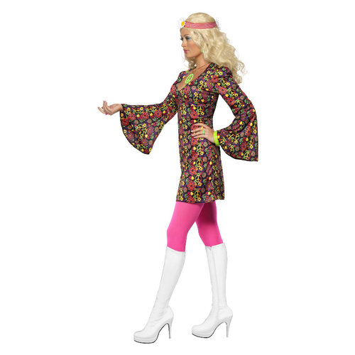 Smiffys 1960 Cnd Kostuum - Multi-gekleurde