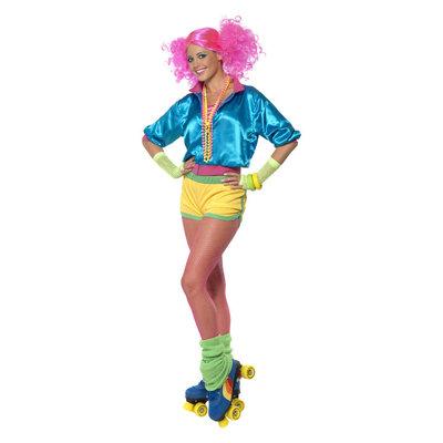 Skater girl Kostuum - Neon