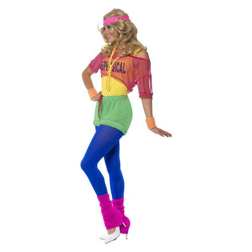 Smiffys Aerobic Kostuum - Multi-gekleurd