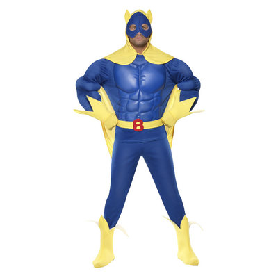 Bananaman Deluxe Eva Borst Kostuum - Blauw