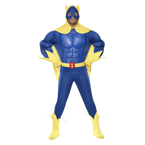 Smiffys Bananaman Deluxe Kostuum - Blauw