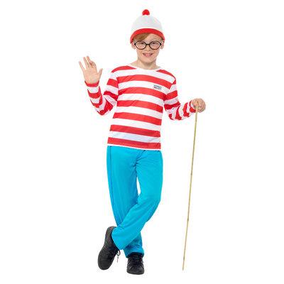 Waar Is Wally? Kostuum - Rood-wit