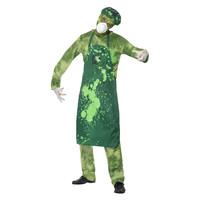 Smiffys Biohazard Mannelijke Kostuum - Groen