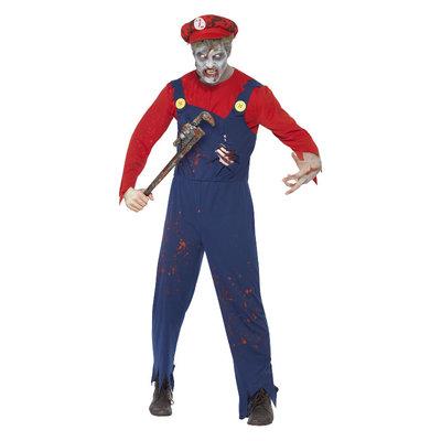 Zombieloodgieter Kostuum - Rood En Blauw