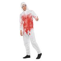 Smiffys Bloedige Forensische Totale Kostuum - Rood