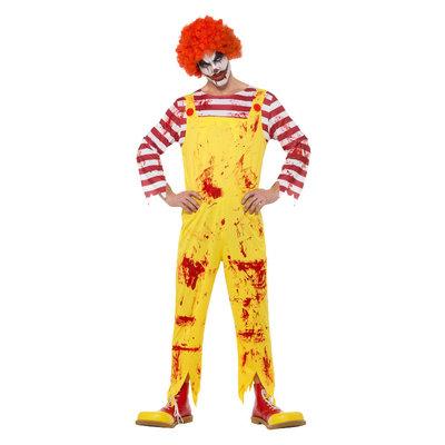 Kreepy Killer Clown Kostuum - Geel En Rood