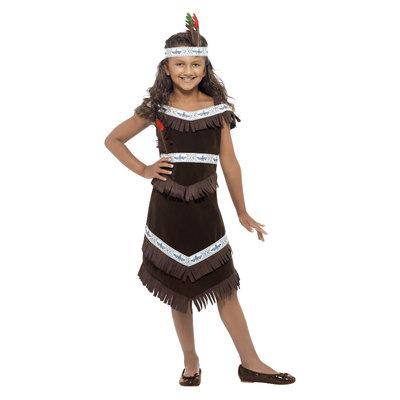 Indiaans Meisje Kostuum - Bruin