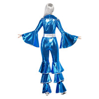 Smiffys 1970 Dancing Dream Kostuum - Blauw