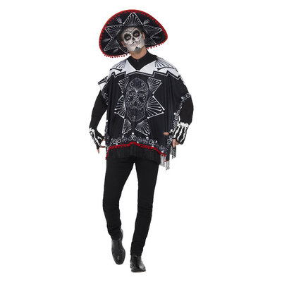 Dag Van De Doden Bandiet Kostuum - Zwart-wit