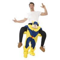 Smiffys Bananaman Piggy Terug Kostuum - Blauw