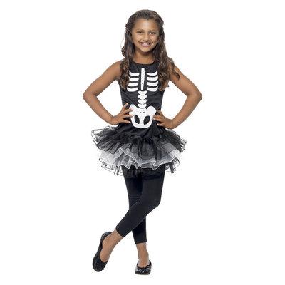 Skelet Tutu Kostuum - Zwart
