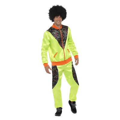 Retro trainingspak- heren - Neon Groen
