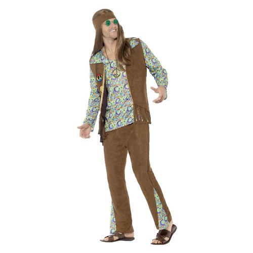 Smiffys '60 Hippie Kostuum - multicolor