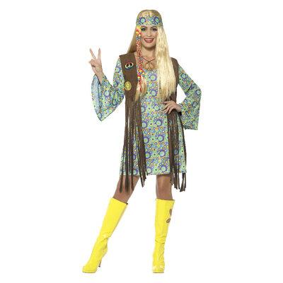 '60 Hippie Chick Kostuum  - Multi-color