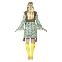 Smiffys '60 Hippie Chick Kostuum - Met Jurk - Multi-color