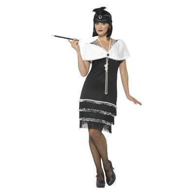 Flapper Kostuum - Zwart
