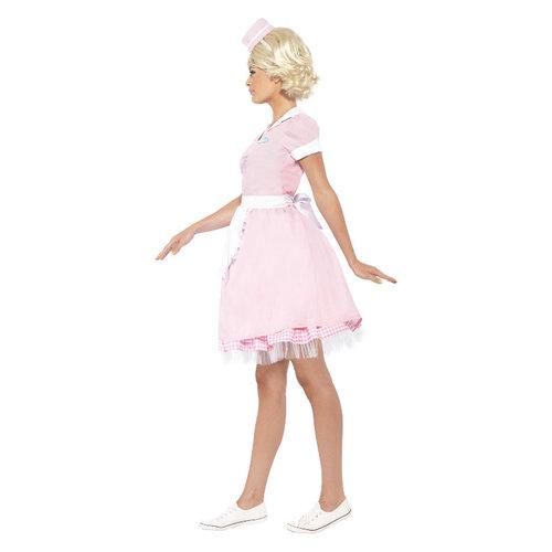 Smiffys '50 Diner Meisje Kostuum - Roze