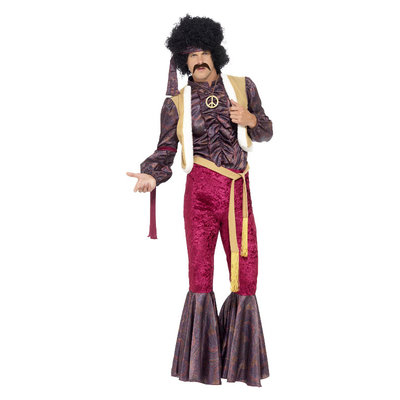 '70 Psychedelische Rocker Kostuum - Paars