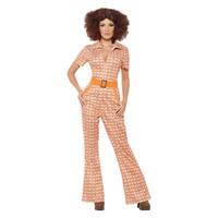 Smiffys Authentieke Jaren '70 Chic Kostuum - Oranje